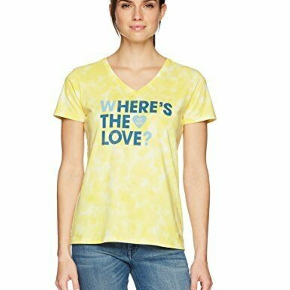 Life Is Good Tops - Life is Good Womens T-Shirt Where's the Love